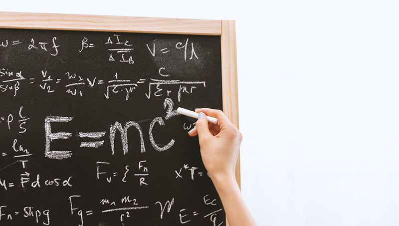 Picture of mathematical formulas