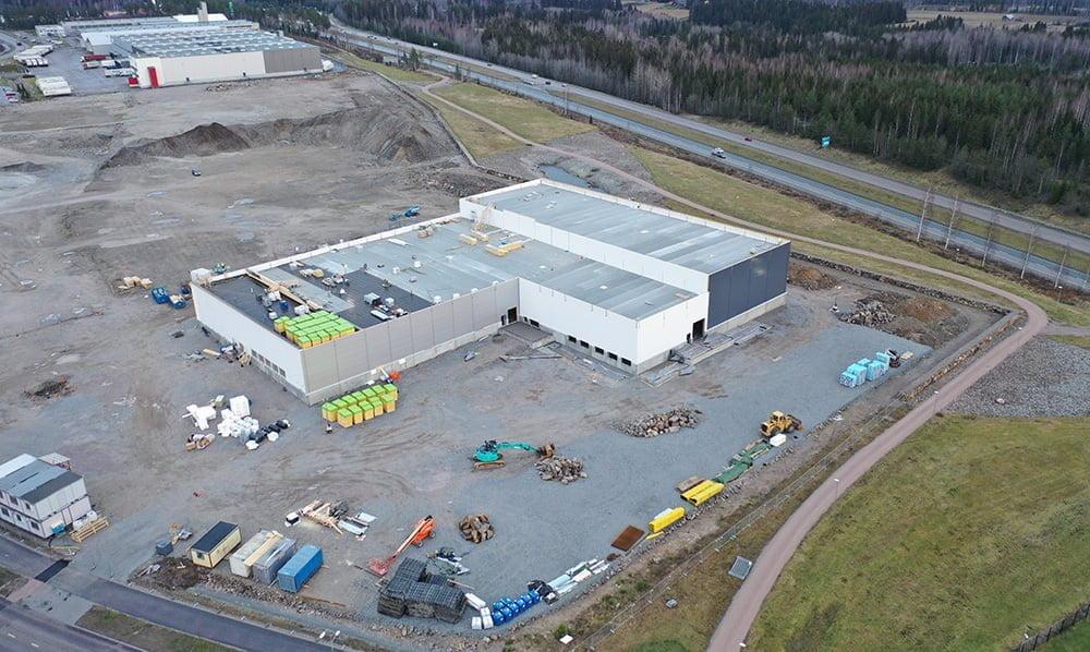Aerial photo of Salhydro's premises