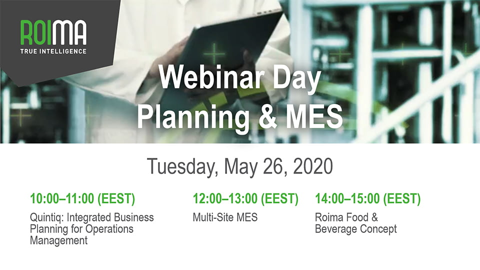 Roima PMES webinar day on may 26